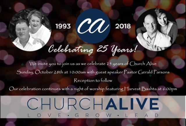 Church Alive's 25th Anniversary