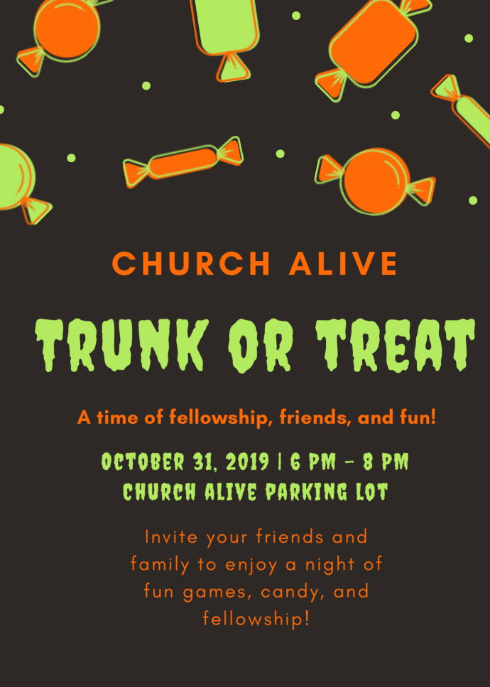 Trunk or Treat at Church Alive