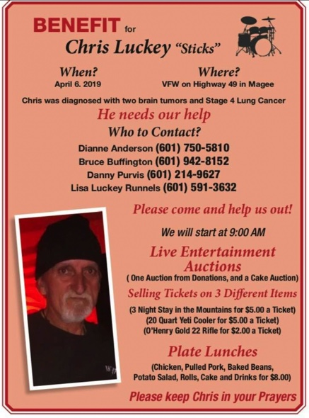 Benefit for Chris Luckey