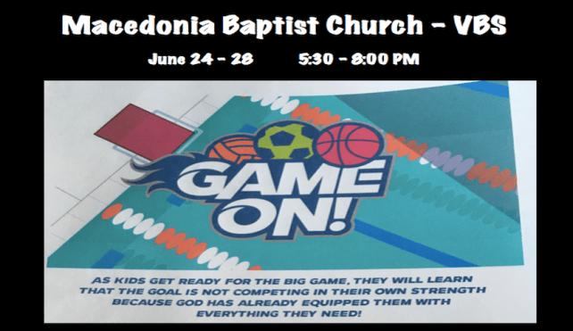 VBS @ Macedonia Baptist Church