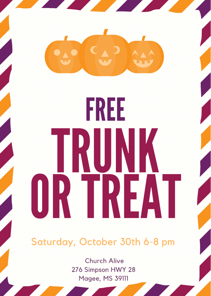 Church Alive Trunk or Treat 2021